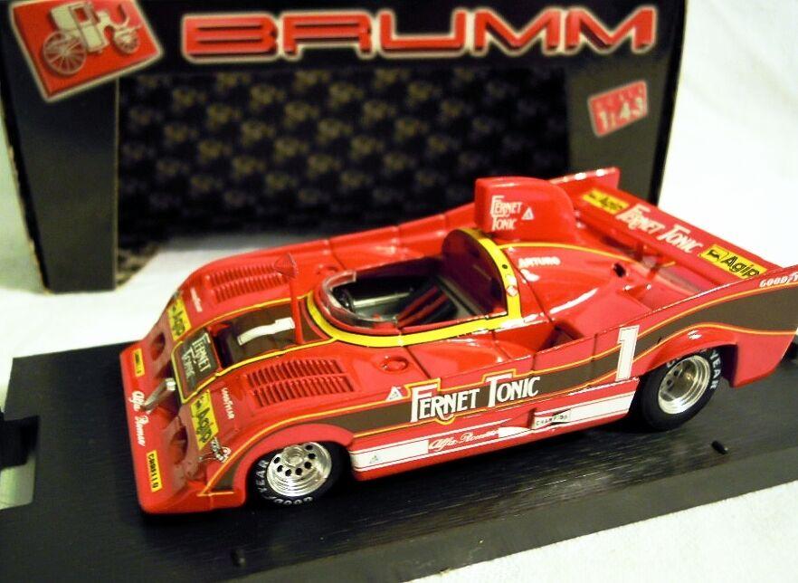 BRUMM R283  Alfa Romeo 33SC 12, Coppa Florio 1977, A. Merzario, 1 43, NEU & OVP