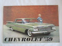 1959 Chevrolet Car Sales Catalog Color Must Have Item