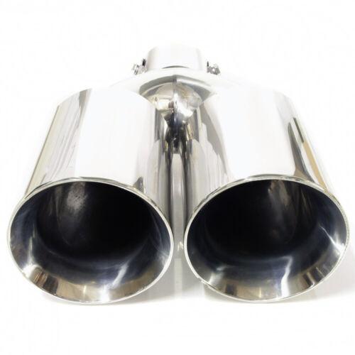 Double Embout D/'Échappement Bordure Tuyau Queue Silencieux pour Dacia Logan