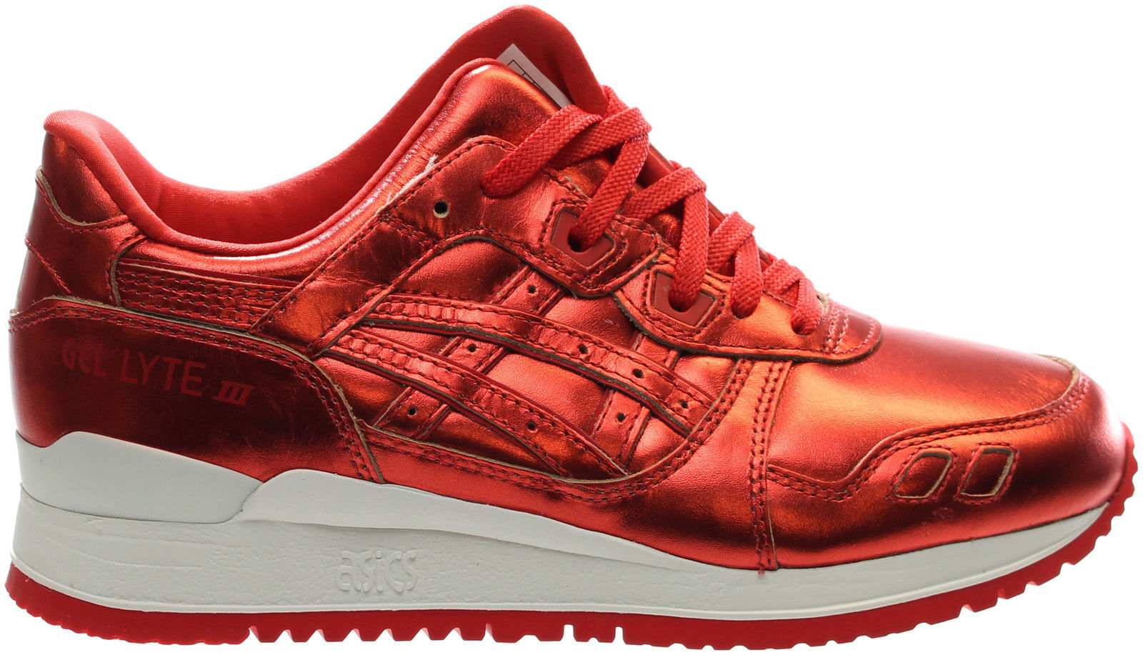 New ASICS Tiger Wmn Sz 8.5 GEL-Lyte III Shoes H6E5K Red Patent Leather Running best-selling model of the brand