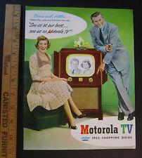 RARE - Original Catalog 1952 Motorola Television TV - George Burns Gracie Allen