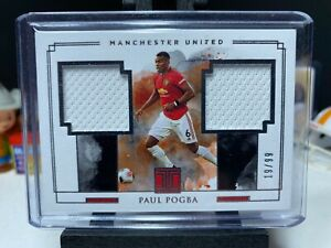 2019-20 Impeccable Soccer PAUL POGBA Match Worn Dual Patch /99 Manchester United