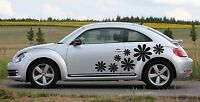 Universal Flowers 01 Car Sticker Decal Graphics - Choose Colors Fits Vw Beetle