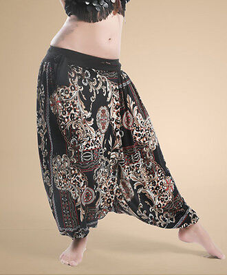 New Belly Dance Costume Indian Dance Egypt Grain Pattern Tribal Pants Trousers