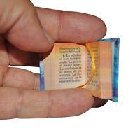 Miniature Book El Nectar Del Coran W/stand In Spanish Hardbound 302 Pag