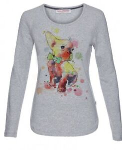 Details about 68# Freida & Freddies New York Longsleeve Dog Print Top. RRP £49.90. Size 40