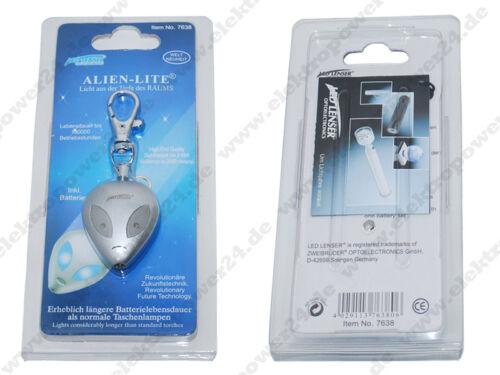 LED Lenser Alien Lite porte clé 7638//7538 cadeau article Cadeau Neuf