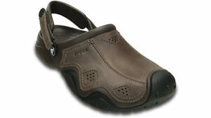 a1a105bf3 Image is loading Crocs-Mens-Swiftwater-Leather-Clog