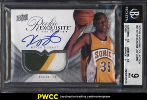 2007-Exquisite-Collection-Kevin-Durant-ROOKIE-RC-AUTO-PATCH-99-94-BGS-9-PWCC