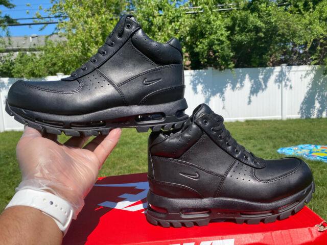 Nike Mens Air Max Goadome Waterproof Leather Boots Black SZ 8 865031-009 NEW