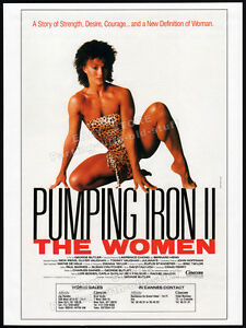 PUMPING IRON II : THE WOMEN__Orig. 1985 Trade Print AD / poster__RACHEL McLISH