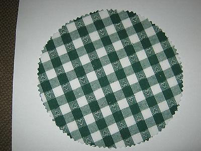 Hauben-//Deckchen für Marmeladengläser blau weiß kariert