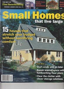 Details About Fine Homebuilding Small Homes That Live Large Winter Spring 2007