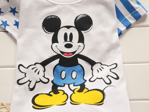 2pc cotton kids baby boys Cartoon T-shirt/&pants Set Outfits summer clothing