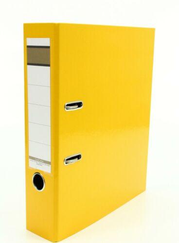 Livepac Caribic Glanz-Ordner DIN A4 Farbe 75mm breit gelb
