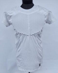 7c1bb357875a Nike Men s Pro Combat Hyperstrong Padded Football Shirt (White) L XL ...