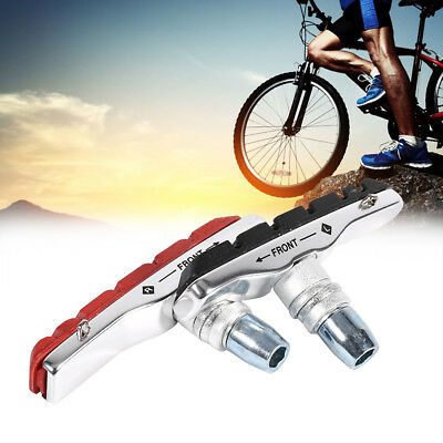 1 Pair Mountain Road Bicycle Cycling Bike V Brake Rubber Blocks Pads Holder