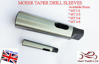 For Lathe New MT4 Spindle to MT3 Arbor Morse Taper Adapter Reducing Drill Sleeve