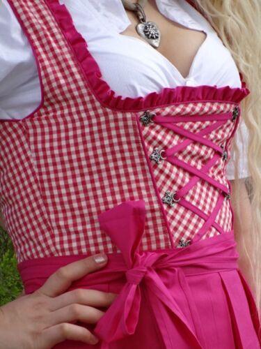 Dirndl-Set Trachtenkleid 3tlg Schürze Bluse Gr 32 bis 60 Alpenmärchen