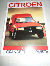 Citroen C15 D brochure c1984 Italian text