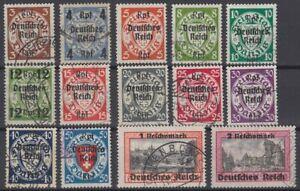 Deutsches-Reich-Michel-716-729-gestempelt-Katalog-260