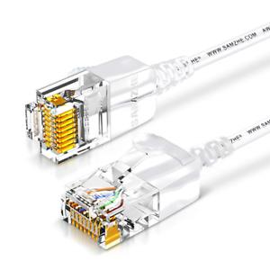 Samzhe 8m CAT 6 Cavo Ethernet super sottile lunga Internet Cavo di rete LAN-veloce