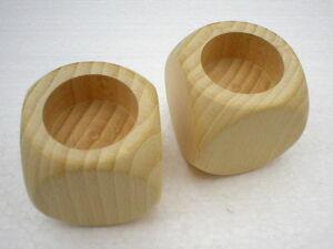 8-x-Teelichthalter-Wuerfel-60-x-60-mm-Holzwuerfel-Buche-Teelicht-Kerze-Halter