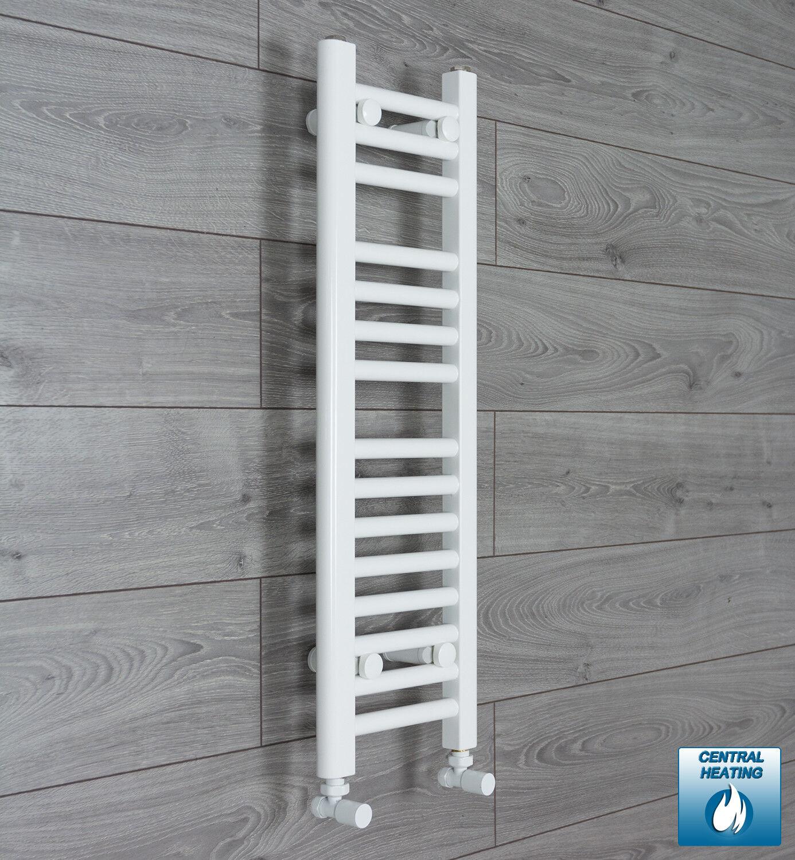 Sèche-serviettes 200 mm (W) x 800 mm (H) Droite Blanc Radiateur Salle de bains RAD NOUVEAU