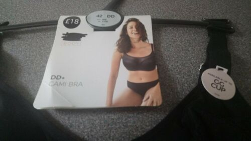 40E MARKS /& SPENCERS BLACK CAMI UNDERWIRED BRA GREAT UNDER LOW CUT TOPS  NEW
