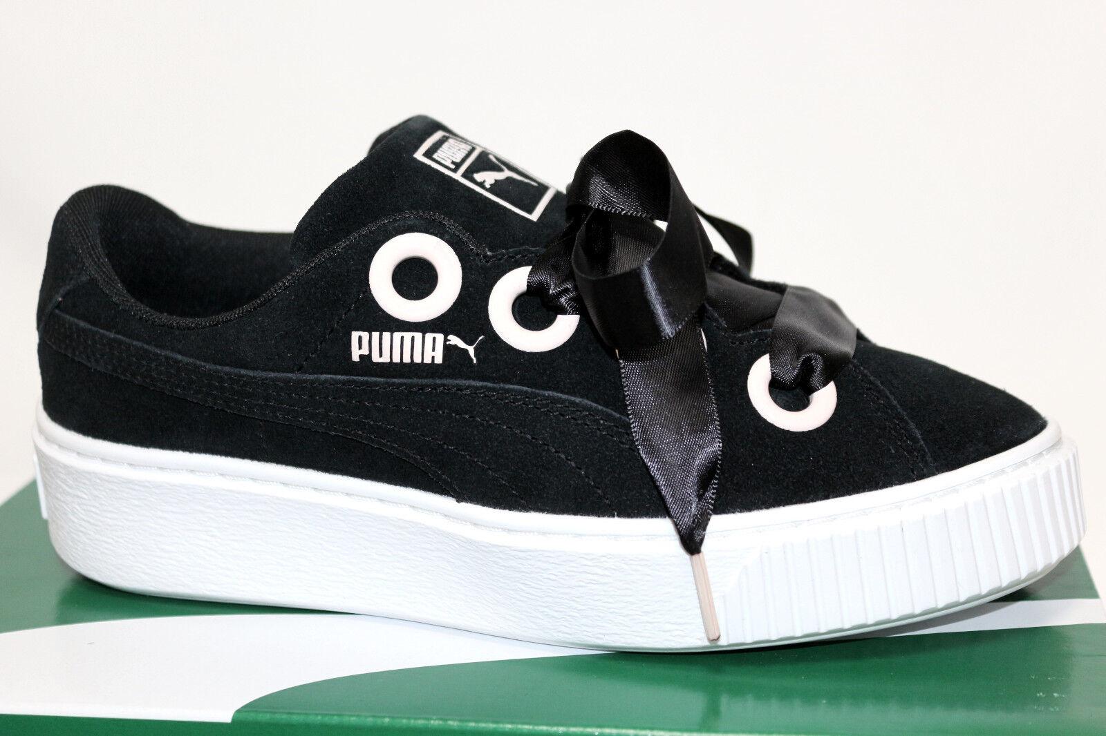 PUMA PLATFORM KISS SD JR 367459 01 chaussures baskets  LEDER noir  Taille WÄHLBAR