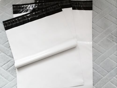 """2.5MIL best quality* 10pcs #6 white poly mailer plastic shipping bag 12/"""" x 16/"""""""