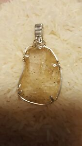 LIBYAN-DESERT-GLASS-Pendant-Wrapped-in-Argentium-Sterling-silver-wire