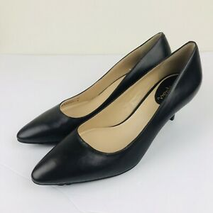 Cole-Haan-Sz-6-Brown-Leather-NikeAir-Pointed-Round-Toe-Pumps
