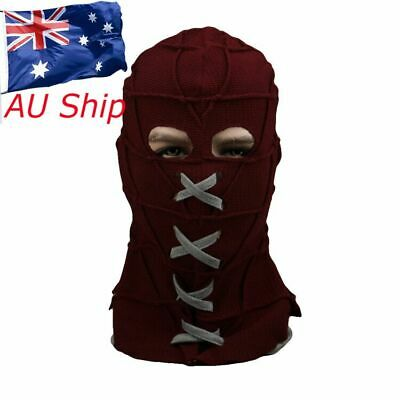 BrightBurn Red Mask Hood Kids Cosplay Scary Horror Halloween Mask Costumes Props