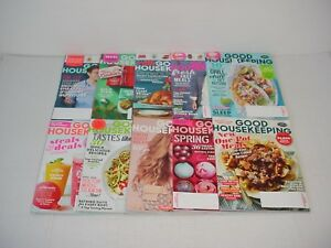 Lot of 10 Good Housekeeping Magazines 2017 to 2018