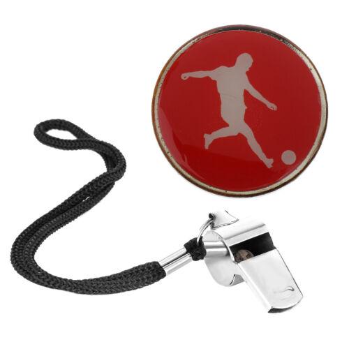 3.5cm Pièce Arbitre  Toss pour Football Badminton Sports Avec Sifflet