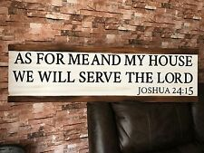 As For Me And My House We Will Serve The Lord Rustic Fixer Upper Style Wood Sign