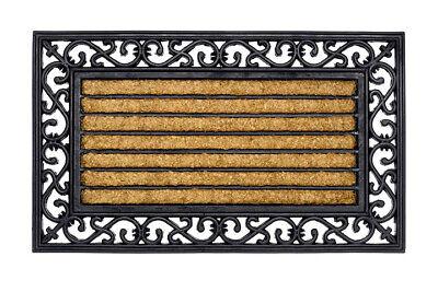 Gummi Kokos Fußmatte Halbrund Impala 45 x 75 cm Schmutzfangmatte Fußabtreter