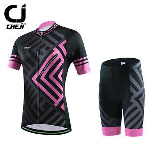 CHEJI Maze Novelty Women s Cycling Short Set Bike Jersey and Shorts ... 3da183f9c