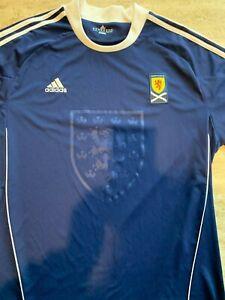 Details about Adidas Soccer Jersey Scotland Boys Size XXL Blue Climacool
