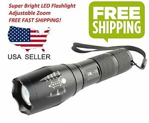 10000 lumens xm l t6 zoomable tactical military led 18650 flashlight torch lamp ebay. Black Bedroom Furniture Sets. Home Design Ideas