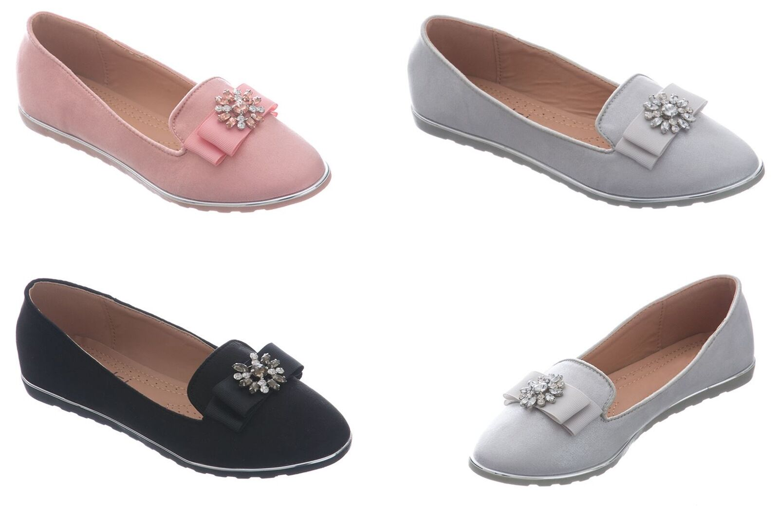 Shelikes Womens New Fashion Diamante Comfy Slip on Flip Flop Casual Shoes