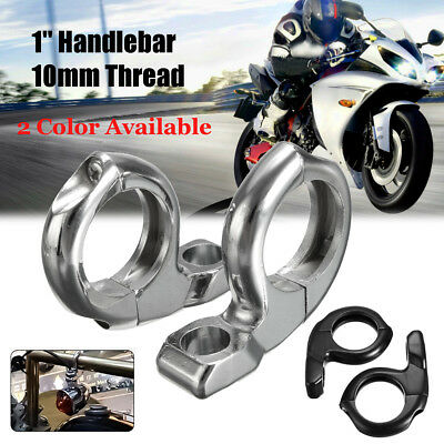 MagiDeal 1 inch Motorcycle Handlebar Turn Signal Clamp Mirrors Adapter 10mm 8mm Black