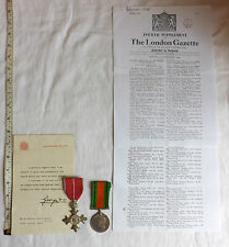 WW2 Military Most Excellent Order British Empire MBE Medal Pair Home Guard (2066
