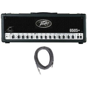 Peavey-6505-Plus-2-Ch-120W-Tube-Guitar-Amp-Head-w-Footswitch-FREE-Cable