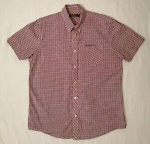 Ben-Sherman-Maniche-Corte-da-Uomo-Check-camicia-con-logo-ricamato-su-tasca-sul-petto-Taglia-L
