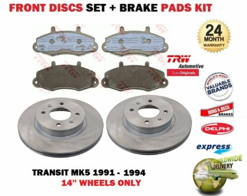 FOR FORD TRANSIT MK5 14/'/' WHEELS 1991-1994 NEW FRONT BRAKE DISCS SET PADS KIT
