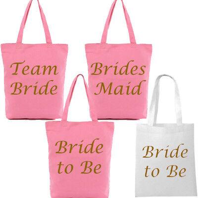 PACK OF 12 TEAM BRIDE BLACK WITH GOLD HEN NIGHT PARTY TOTE SHOULDER BAG KEEPSAKE