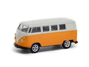 1963-Volkswagen-VW-T1-Classical-Bus-Van-Yellow-Welly-1-60-1-64-No-52221-Toy-Car