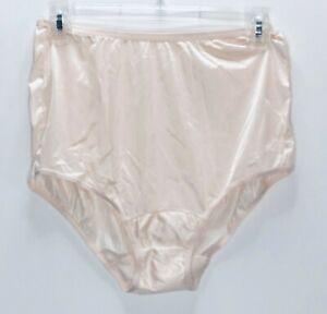 Vintage Vanity Fair Granny Panties Briefs Sz 6 Sheer Nylon Antron III USA Peach